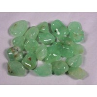 Prehnite tumbled crystal