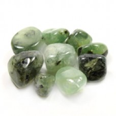 Prehnite with Epidot Tumbled Crystal