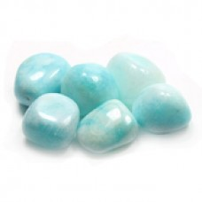 Blue Aragonite tumbled crystal